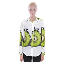 Kiwi Bicycle  Womens Long Sleeve Shirt