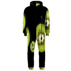 Kiwi Bicycle  Hooded Jumpsuit (men)