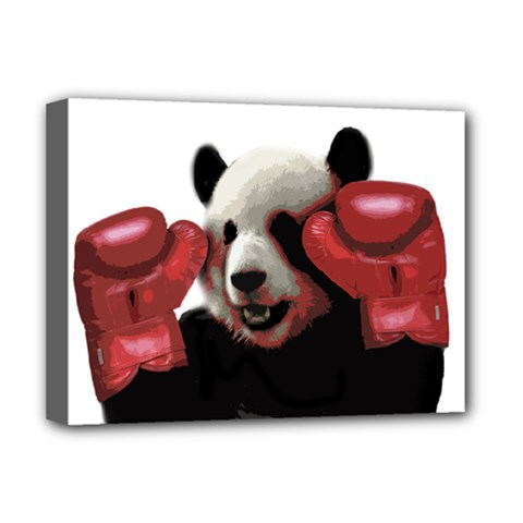 Boxing Panda  Deluxe Canvas 16  X 12