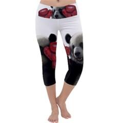 Boxing Panda  Capri Yoga Leggings
