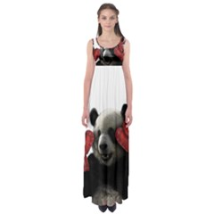 Boxing Panda  Empire Waist Maxi Dress