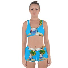 Tropical Penguin Racerback Boyleg Bikini Set