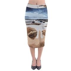 Landscape Midi Pencil Skirt