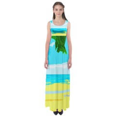 Landscape Empire Waist Maxi Dress