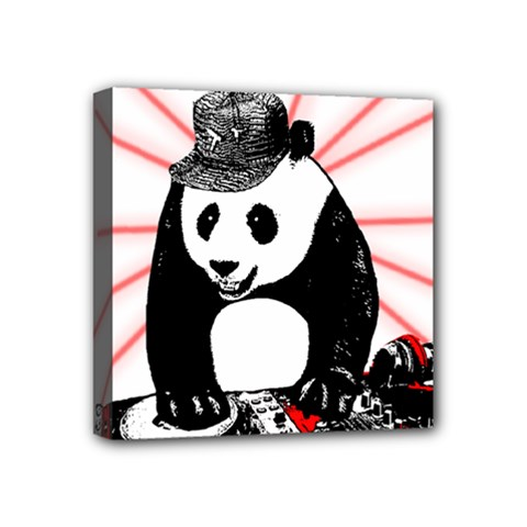 Deejay Panda Mini Canvas 4  X 4