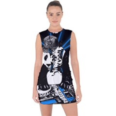 Deejay Panda Lace Up Front Bodycon Dress