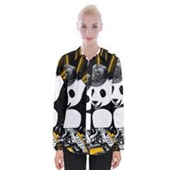 Deejay Panda Womens Long Sleeve Shirt