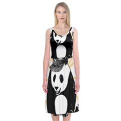 Deejay Panda Midi Sleeveless Dress