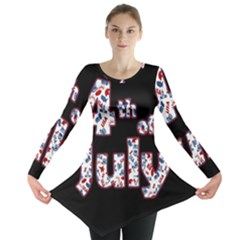 4th Of July Independence Day Long Sleeve Tunic