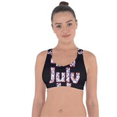 4th Of July Independence Day Cross String Back Sports Bra