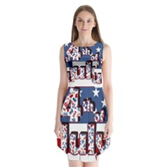 4th Of July Independence Day Sleeveless Chiffon Dress