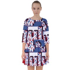 4th Of July Independence Day Smock Dress
