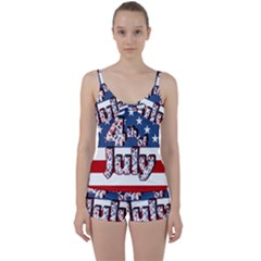 4th Of July Independence Day Tie Front Two Piece Tankini
