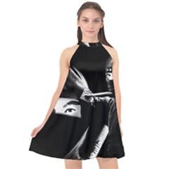 Ninja Halter Neckline Chiffon Dress