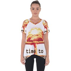 Nuclear Explosion Cut Out Side Drop Tee