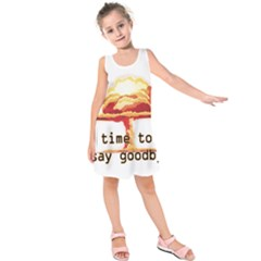 Nuclear Explosion Kids  Sleeveless Dress