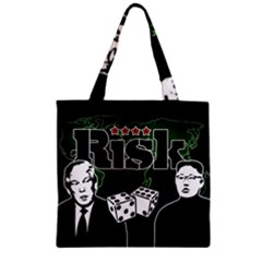 Nuclear Explosion Trump And Kim Jong Zipper Grocery Tote Bag