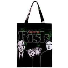 Nuclear Explosion Trump And Kim Jong Zipper Classic Tote Bag