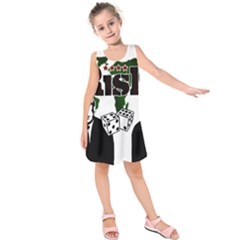 Nuclear Explosion Trump And Kim Jong Kids  Sleeveless Dress