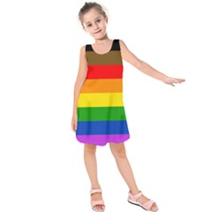 Philadelphia Pride Flag Kids  Sleeveless Dress