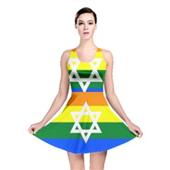 Gay Pride Israel Flag Reversible Skater Dress