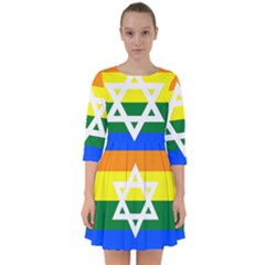Gay Pride Israel Flag Smock Dress