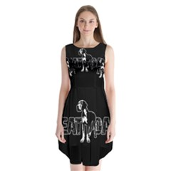 Great Dane Sleeveless Chiffon Dress