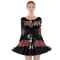 Great Dane Long Sleeve Skater Dress