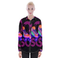 Roller Skater 80s Womens Long Sleeve Shirt