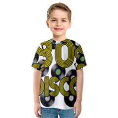 80s Disco Vinyl Records Kids  Sport Mesh Tee