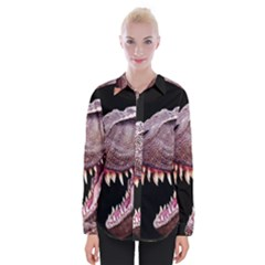 Dinosaurs T Rex Womens Long Sleeve Shirt