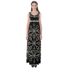 Ornate Chained Atrwork Empire Waist Maxi Dress