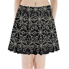 Ornate Chained Atrwork Pleated Mini Skirt