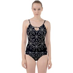 Ornate Chained Atrwork Cut Out Top Tankini Set