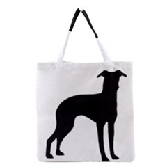 Italian Greyhound Silo Black Grocery Tote Bag