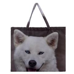 Akita Inu 6 Zipper Large Tote Bag