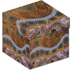 Aboriginal Traditional Pattern Storage Stool 12