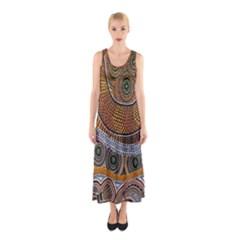 Aboriginal Traditional Pattern Sleeveless Maxi Dress