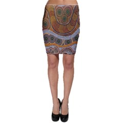 Aboriginal Traditional Pattern Bodycon Skirt