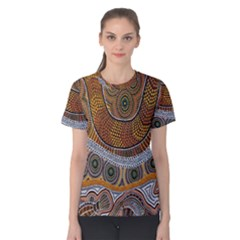 Aboriginal Traditional Pattern Women s Cotton Tee