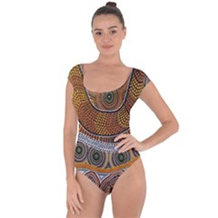 Aboriginal Traditional Pattern Short Sleeve Leotard