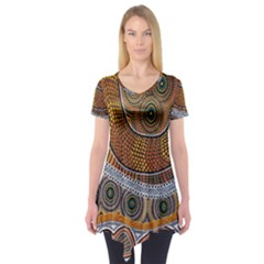 Aboriginal Traditional Pattern Short Sleeve Tunic