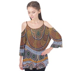 Aboriginal Traditional Pattern Flutter Tees