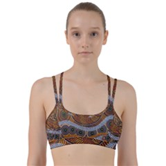 Aboriginal Traditional Pattern Line Them Up Sports Bra