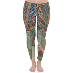 Traditional Korean Painted Paterns Classic Winter Leggings