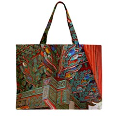 Traditional Korean Painted Paterns Zipper Mini Tote Bag
