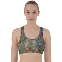 Traditional Korean Painted Paterns Back Weave Sports Bra
