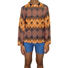 Traditiona  Patterns And African Patterns Kids  Long Sleeve Swimwear