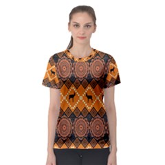 Traditiona  Patterns And African Patterns Women s Sport Mesh Tee