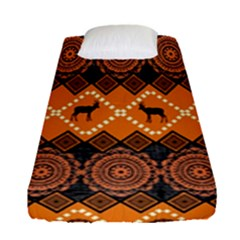 Traditiona  Patterns And African Patterns Fitted Sheet (single Size)